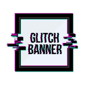 Geometrische glitch frames instellen achtergrond.