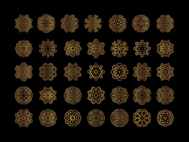 Geometrische gouden mandala's