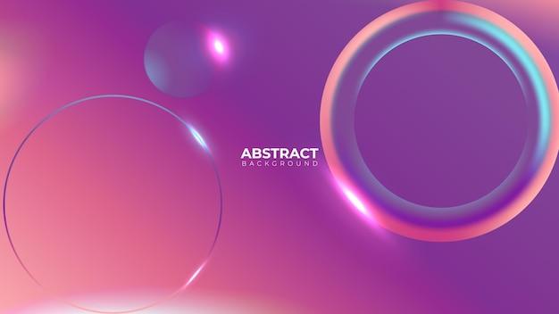 Geometrische gradiënt concept abstracte achtergrond realistische vector. dynamisch ontwerp. digitale grafische vloeistof