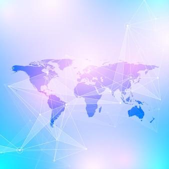 Geometrische grafische achtergrond communicatie illustratie