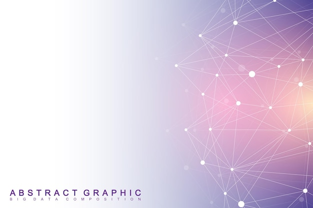 Geometrische grafische achtergrond. digitale datavisualisatie.