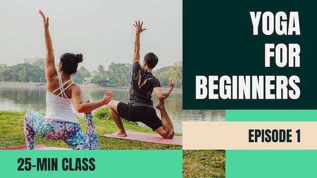 Geometrische groene yoga voor beginners sport youtube thumbnail