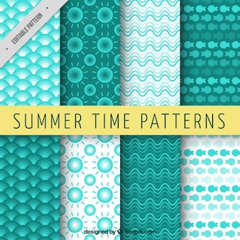 Geometrische groene zomer patronen