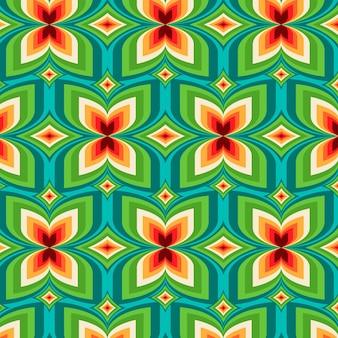 Geometrische groovy patroonstijl