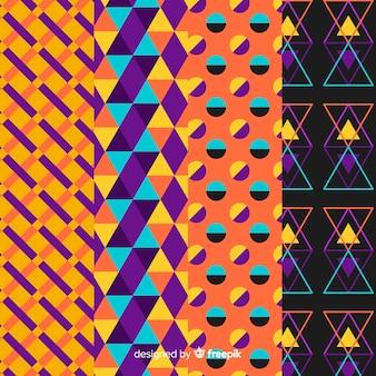 Geometrische halloween-patrooninzameling