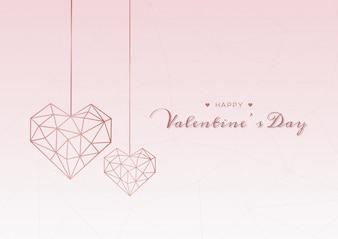 Geometrische hart Valentijnsdag