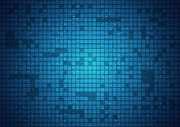 Geometrische high-tech technologie en achtergrond van het verbindingssysteem met digitale gegevenssamenvatting