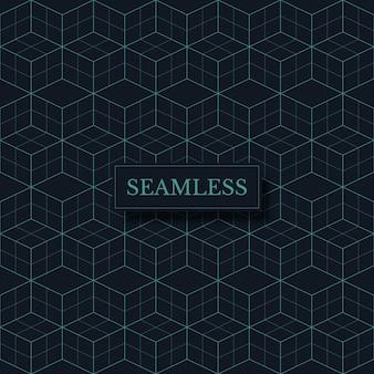Geometrische illusie naadloze patroon abstracte diamant vormen decoratieve textuur