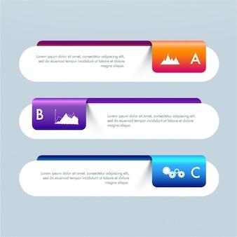Geometrische infographic banners voor het bedrijfsleven