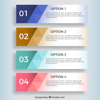 Geometrische infographic banners