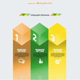 Geometrische infographic elementen ontwerp