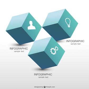 Geometrische infographic ontwerp