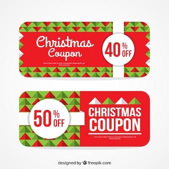 Geometrische kerst coupon