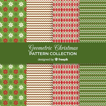 Geometrische kerst patroon collectie