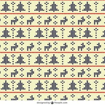 Geometrische kerst patroon in kruissteek stijl