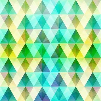 Geometrische kleurrijke sjabloon met driehoekige en diamantkristalvormen in de stijlillustratie van het mozaïekraster