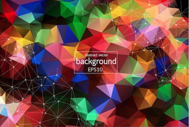 Geometrische kleurrijke veelhoekige achtergrond