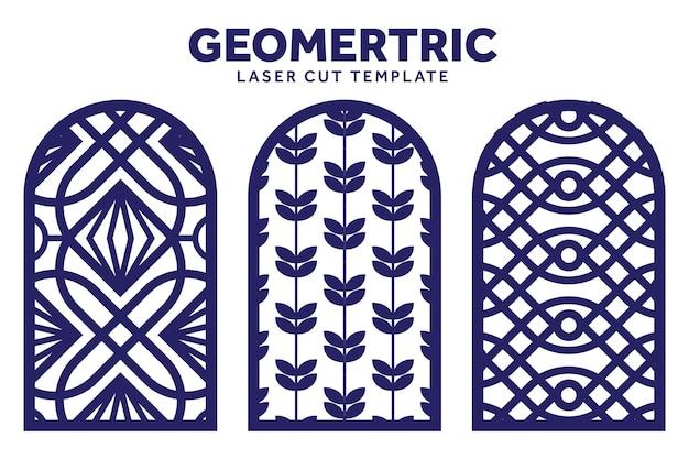 Geometrische lasergesneden patroonsjabloon kan worden gebruikt om decoratie te maken