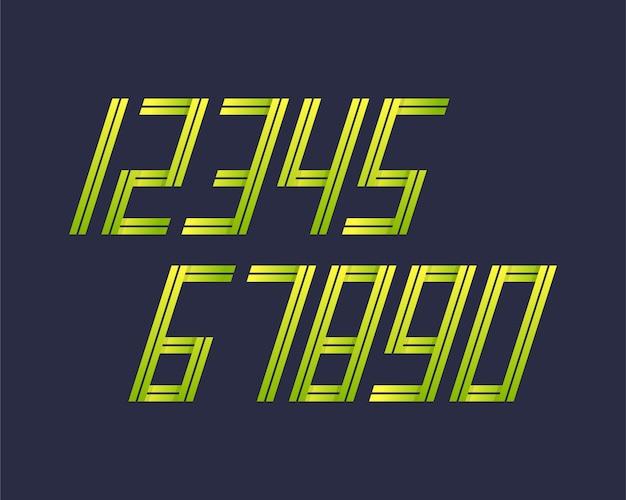 Geometrische lettertype stijl effect ontwerpnummers