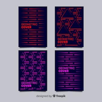 Geometrische lijnen brochure pack
