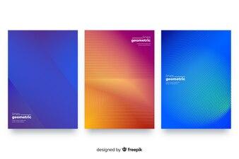 Geometrische lijnen brochure set
