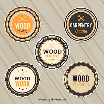 Geometrische logo's voor timmerwerk