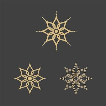 Geometrische logo sjabloon. vector circulaire arabische siersymbolen