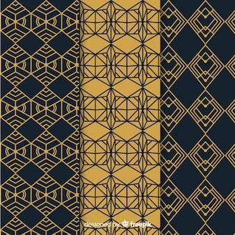 Geometrische luxe patroon ingesteld
