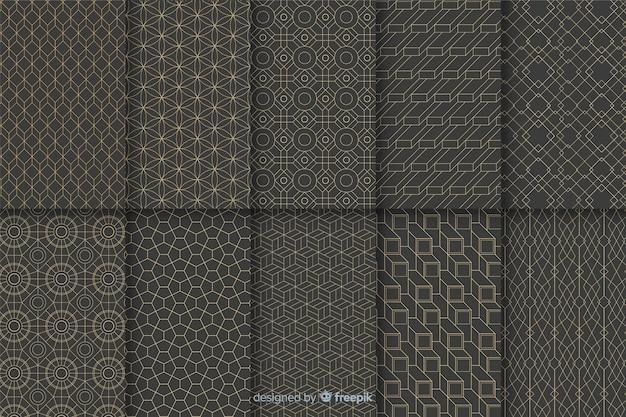 Geometrische luxe patrooncollectie