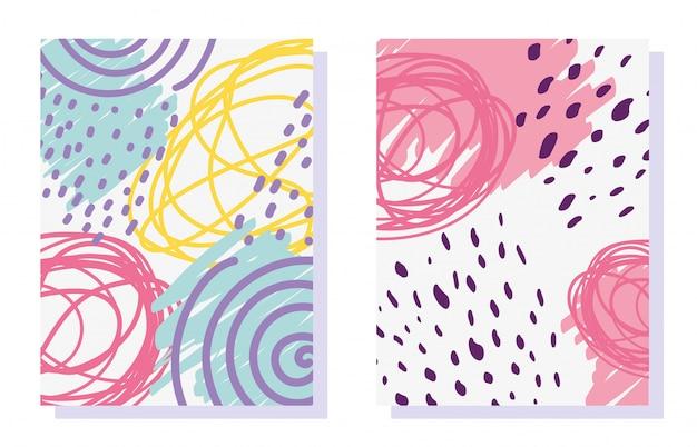 Geometrische memphis, minimale abstracte naadloze dekking