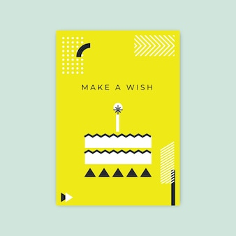 Geometrische minimalistische verjaardagskaartsjabloon