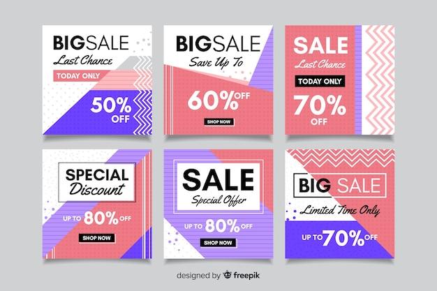 Geometrische mode verkoop instagram post collectie