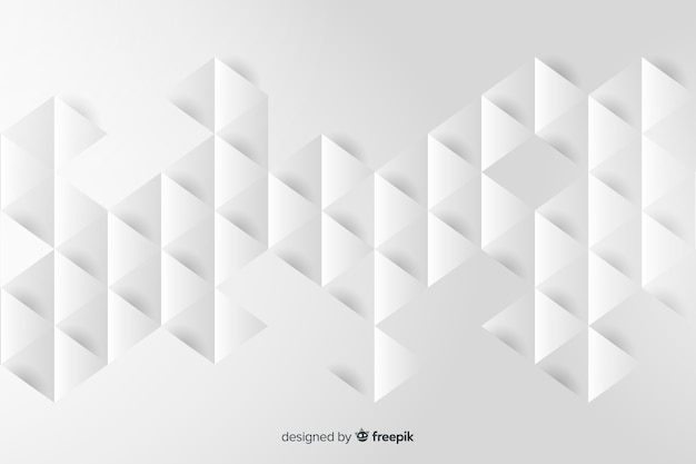 Geometrische modellenachtergrond in papierstijl