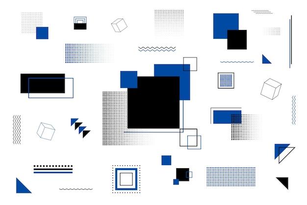 Geometrische modellenachtergrond in vlak ontwerp