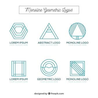 Geometrische monoline logo collectie