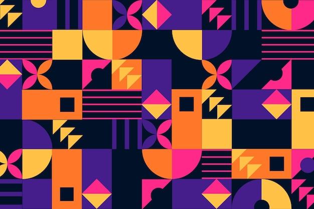 Geometrische muurschildering achtergrond met abstracte vormen