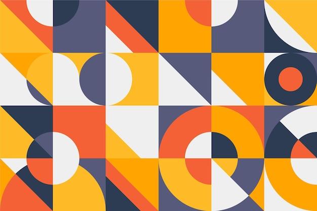 Geometrische muurschildering behang ontwerp