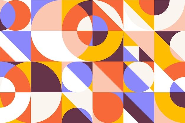 Geometrische muurschildering behangstijl