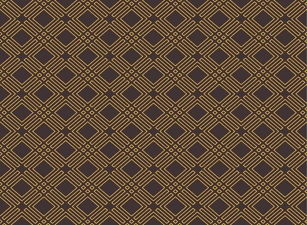 Geometrische naadloze art decostijl rhombus naadloze patroon achtergrond