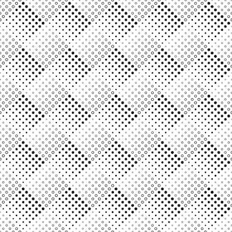 Geometrische naadloze monochroom abstracte cirkel patroon achtergrond