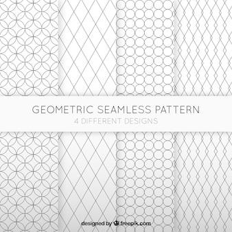 Geometrische naadloze patronen collectie