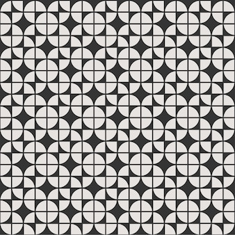 Geometrische naadloze patroon achtergrondbloemmandala met zwart-wit