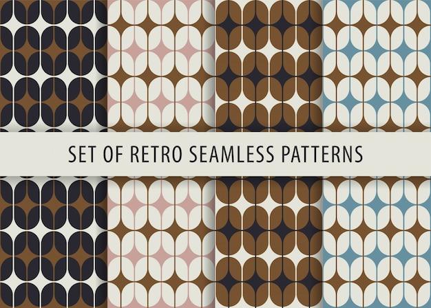 Geometrische naadloze patroon ingesteld