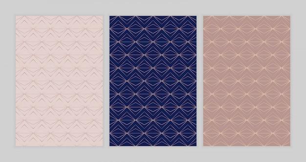 Geometrische naadloze patroon met gouden lijnen