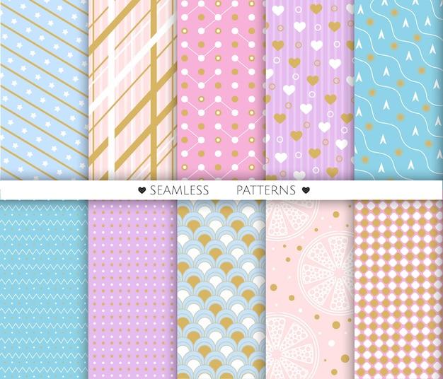 Geometrische naadloze patroon voor afdrukken op papier