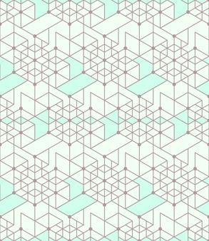 Geometrische naadloze patroonachtergrond met lijn