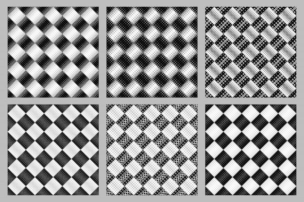 Geometrische naadloze ringpatroon ingesteld