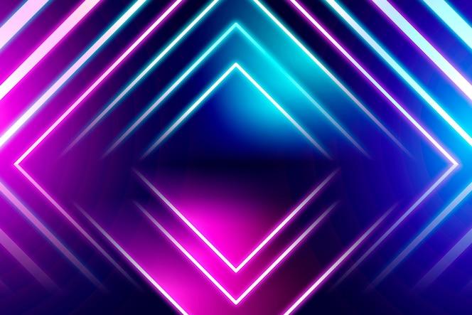 Geometrische neon achtergrond