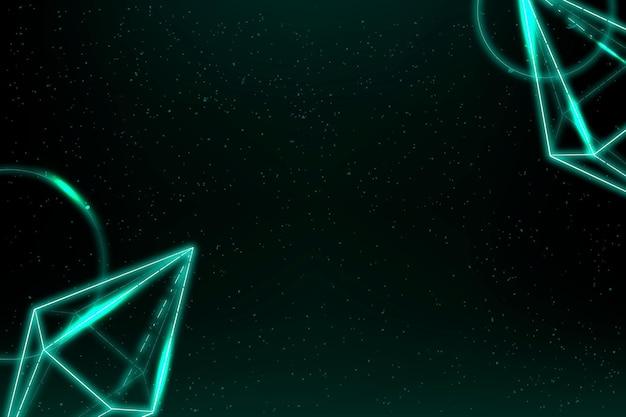 Geometrische neon zeshoekige bipiramide achtergrond