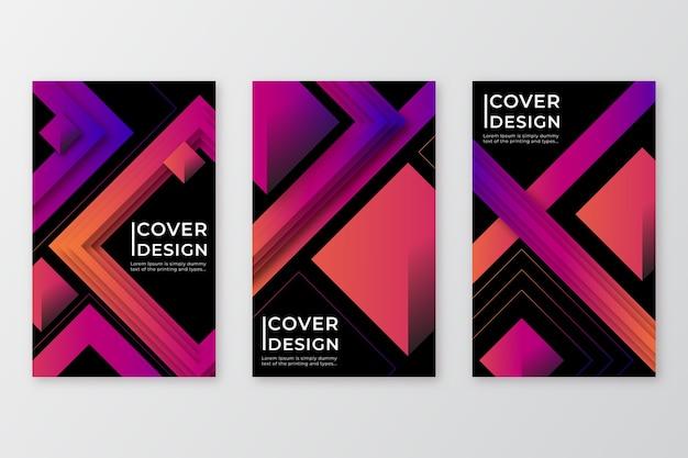 Geometrische ontwerp verloop vormen covers